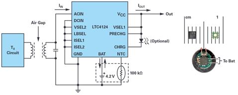 具有优化功率搜索和多种安全特性的完整高效的100 mA无线充电解决方案