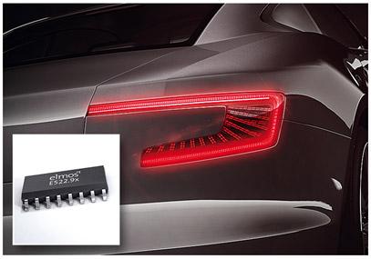 elmos推出用于汽车尾灯,具有功率管理专利技术的线性LED驱动器