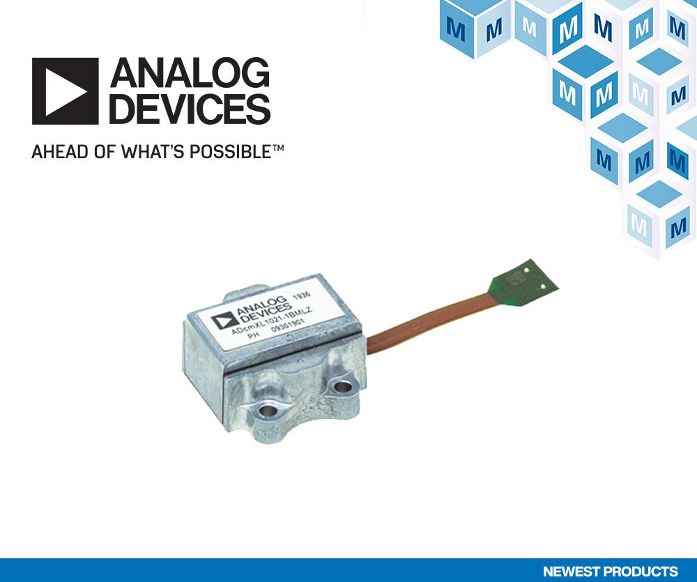 贸泽电子备货适用于工业系统的 Analog Devices ADcmXL1021-1振动传感器
