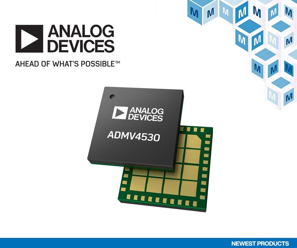 Analog Devices ADMV4530 Ka频段上变频器在贸泽开售   为下一代卫星通信提供更强驱动力