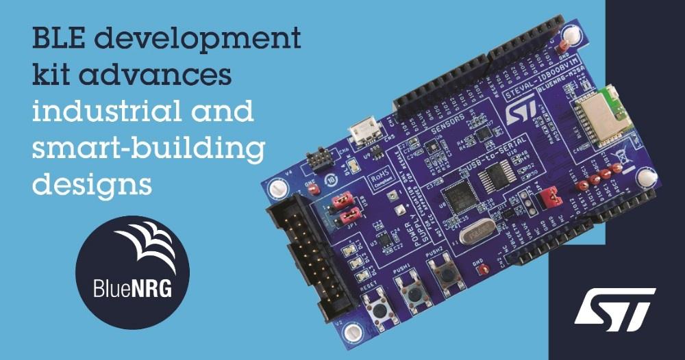 意法半导体推出BlueNRG-2开发工具,释放Bluetooth 5.0性能和效率