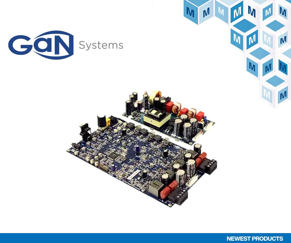 GaN Systems的GS-EVB-AUD-xx1-GS音频评估板在贸泽开售 助力开发高性能低成本的音频系统