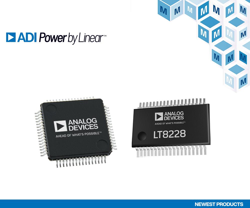 Analog Devices LT8228与LTC7871升降压控制器在贸泽开售