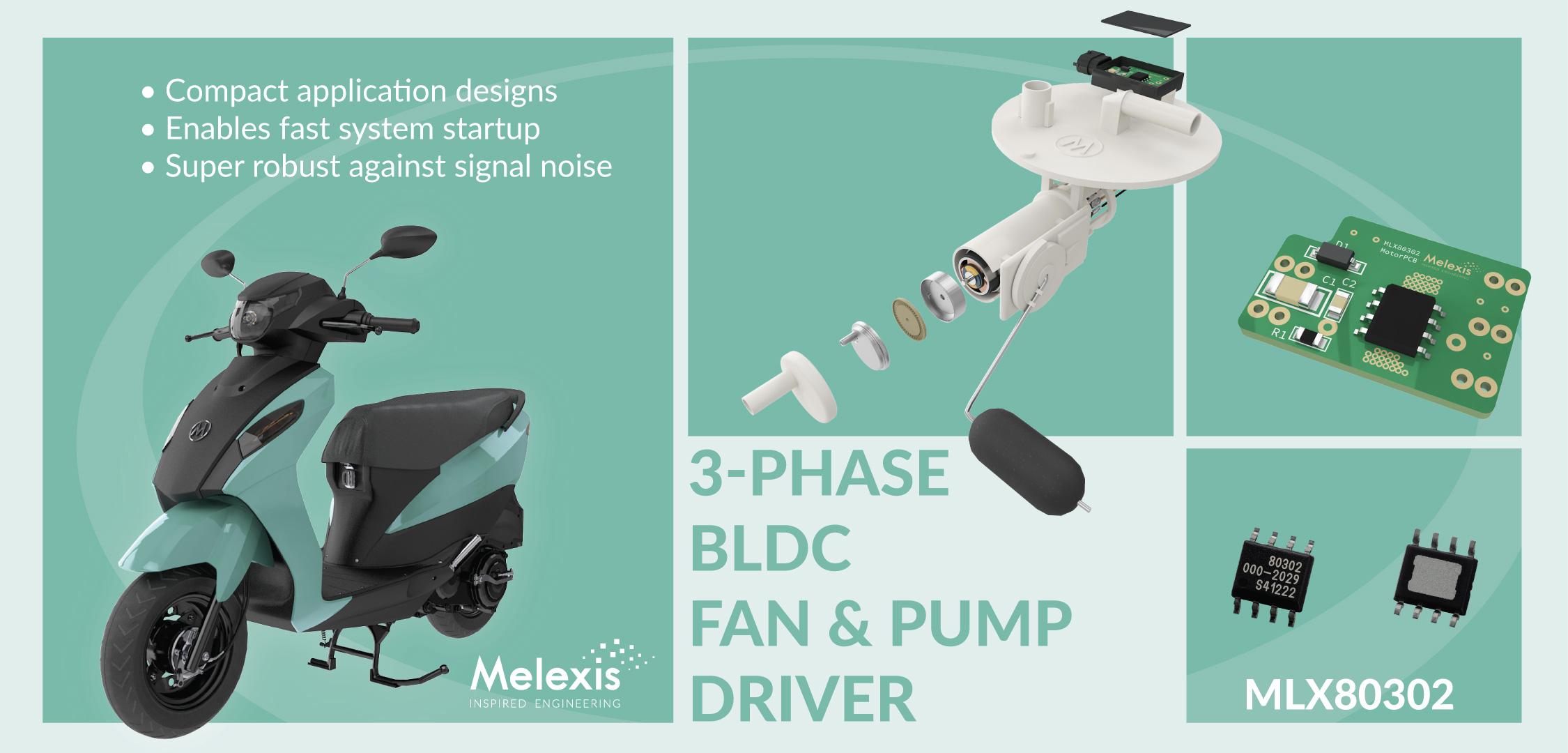 Melexis 推出新一代市场领先的摩托车燃油泵控制器