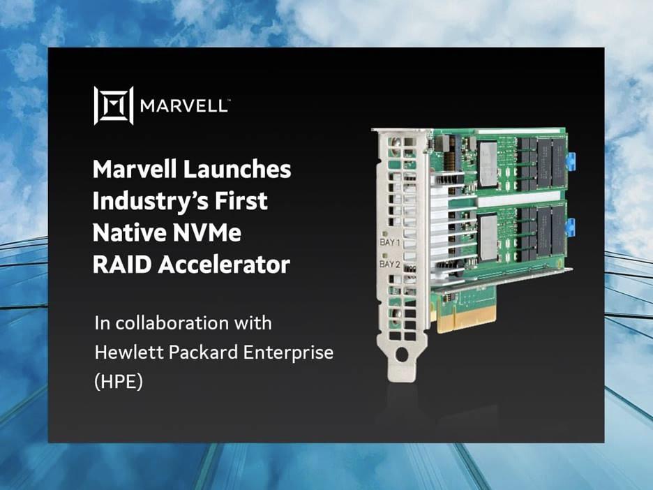 Marvell 推出业界首款原生 NVMe RAID 加速器