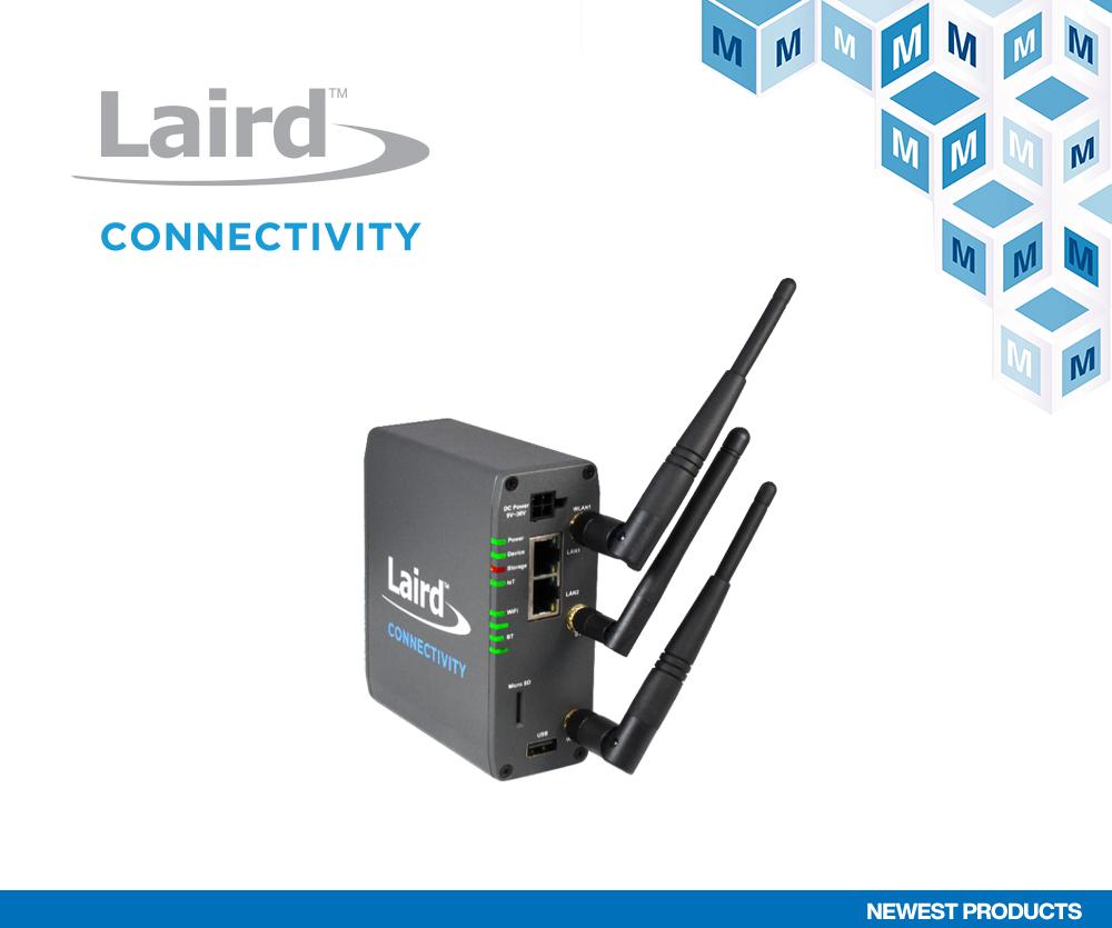 贸泽电子开售Laird Connectivity用于智能楼宇的 Sentrius IG60-BL654-LTE无线物联网网关