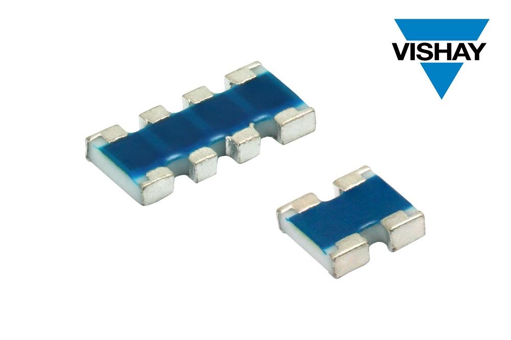Vishay推出新款高阻值比、高工作电压ACAS AT精密薄膜片式排阻