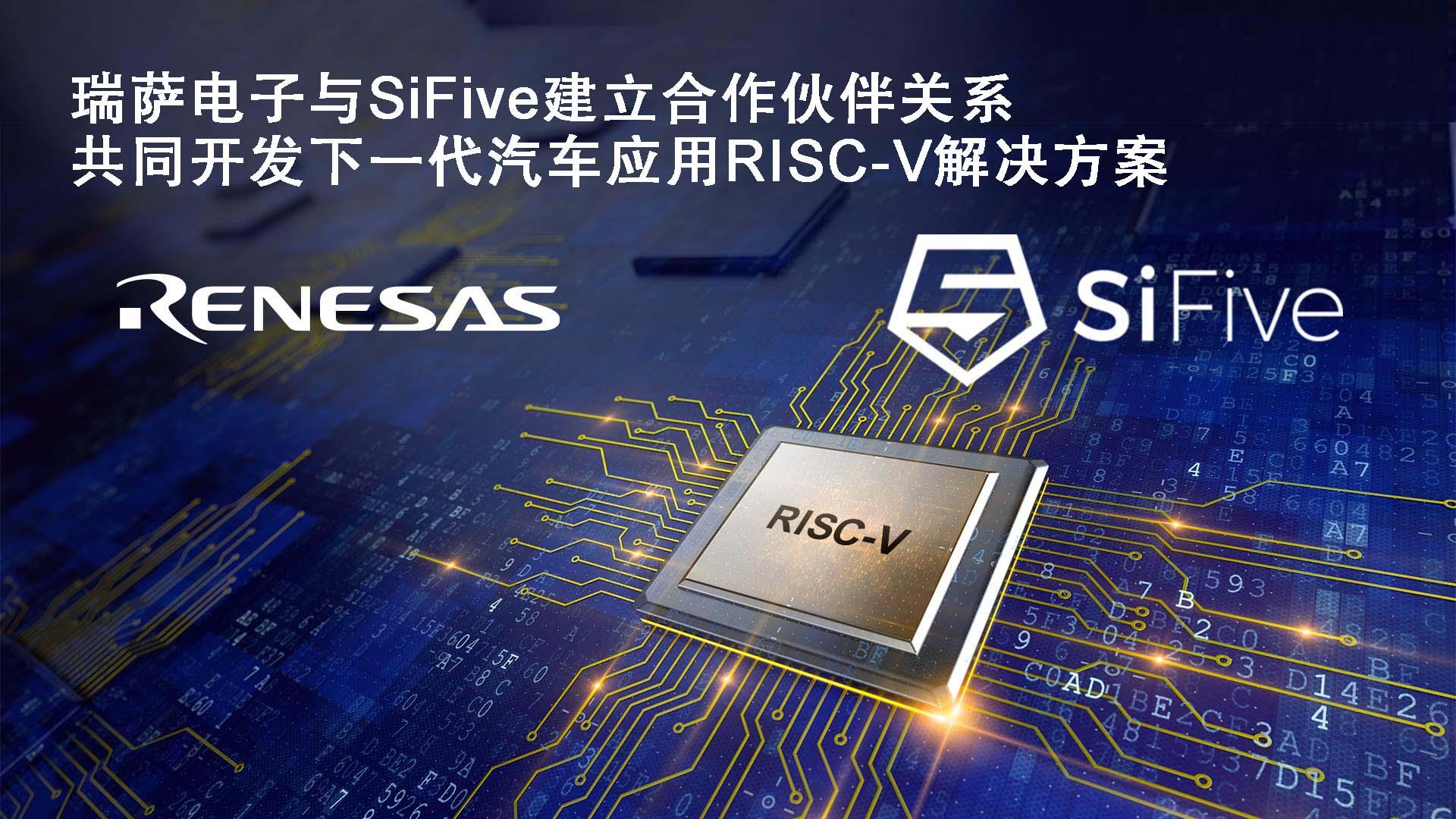 瑞萨电子携手SiFive共同开发面向汽车应用的 新一代高端RISC-V解决方案