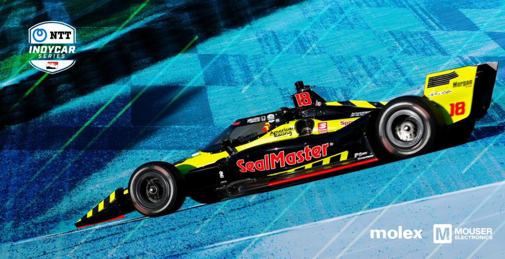 贸泽与Molex共同赞助Dale Coyne Racing with Vasser Sullivan车队的整个2021 IndyCar赛季