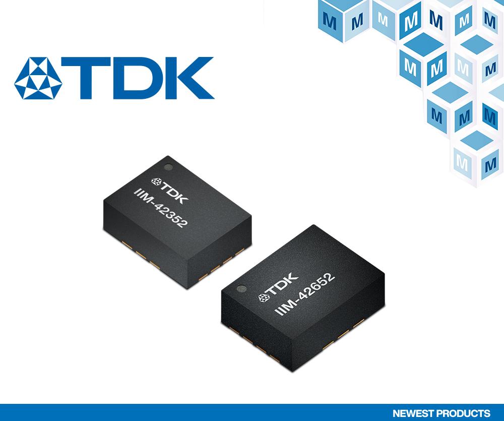 贸泽电子开售适合各种工业应用的 TDK InvenSense SmartIndustrial 传感器系列