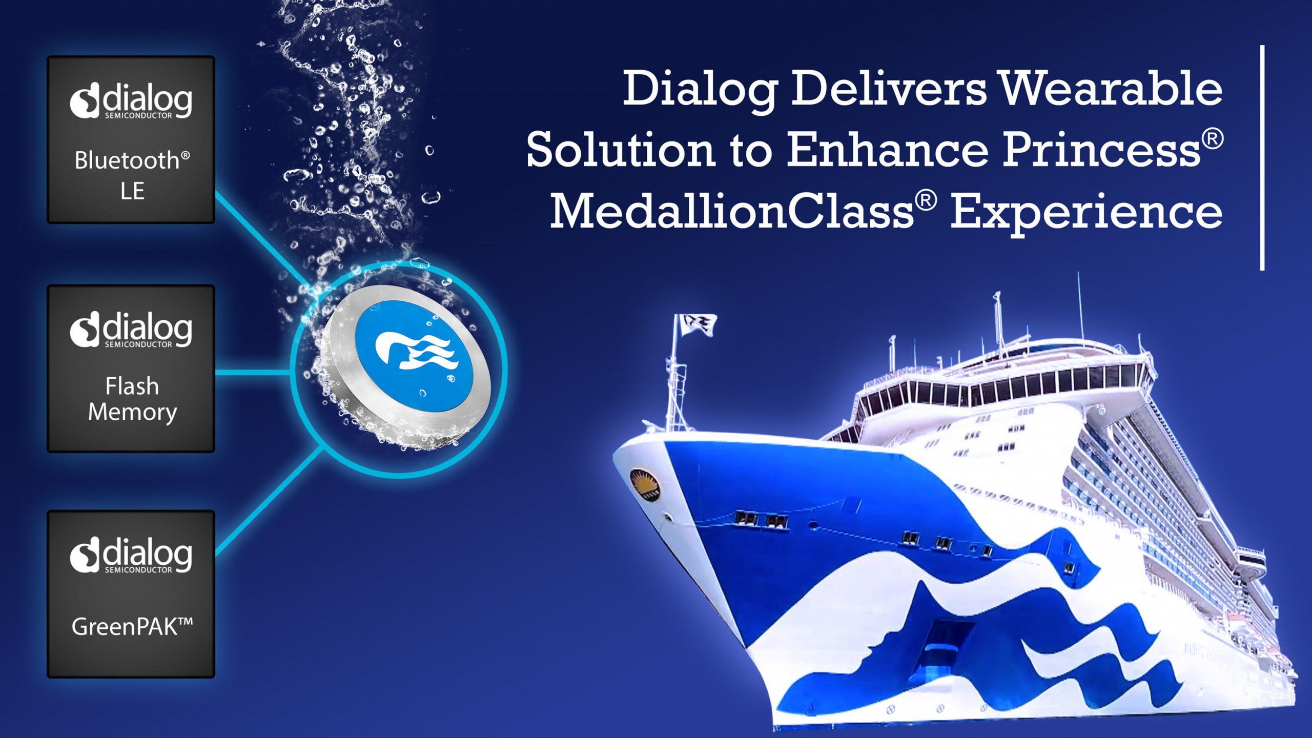 Dialog为嘉年华邮轮集团的OceanMedallion™可穿戴设备提供具备WiRa™功能的芯片解决方案