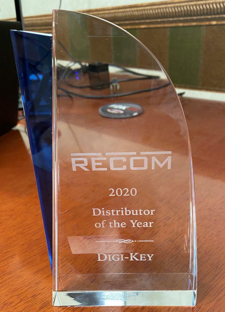 Digi-Key Electronics 获评 RECOM Power 年度最佳分销商