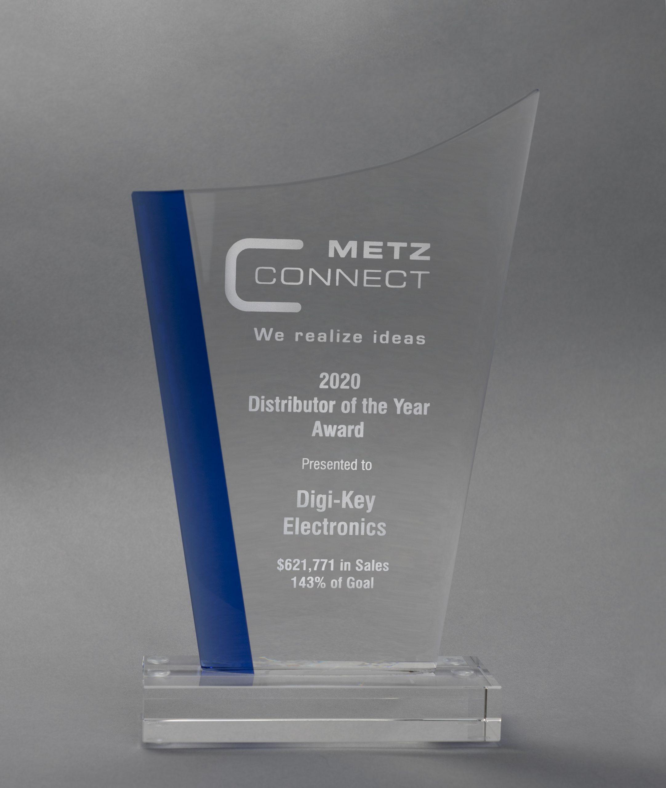 Digi-Key Electronics 获评 METZ CONNECT 年度分销商大奖
