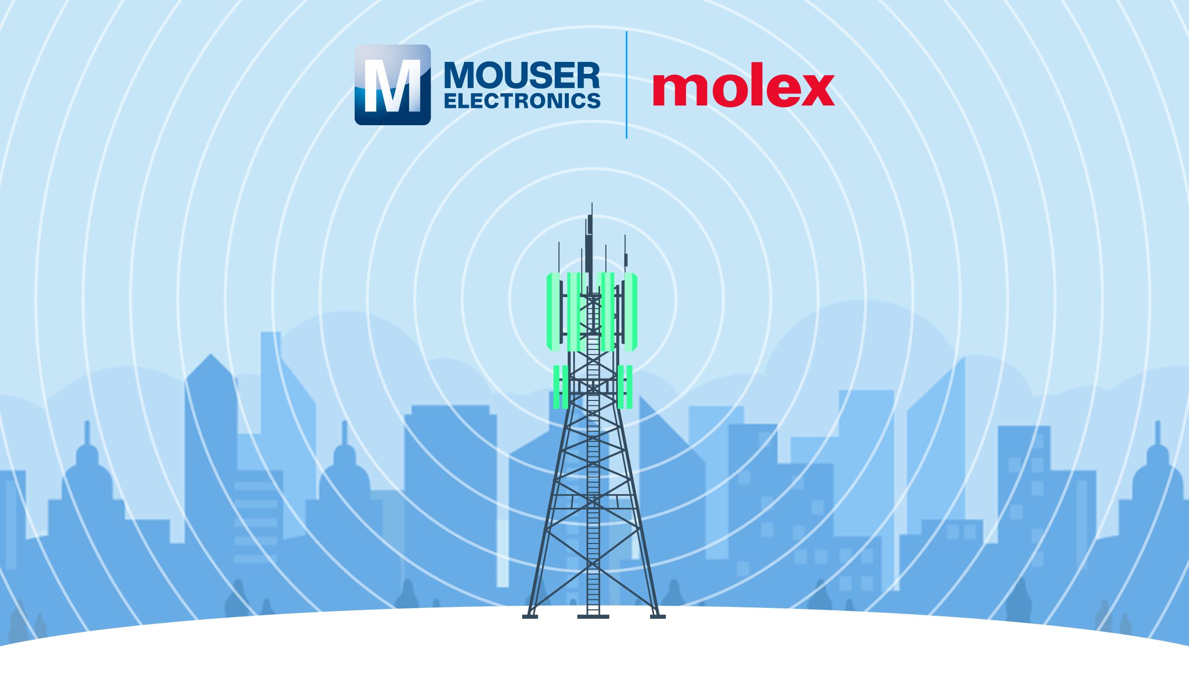贸泽电子联手Molex推出全新内容网站探索天线应用和战略
